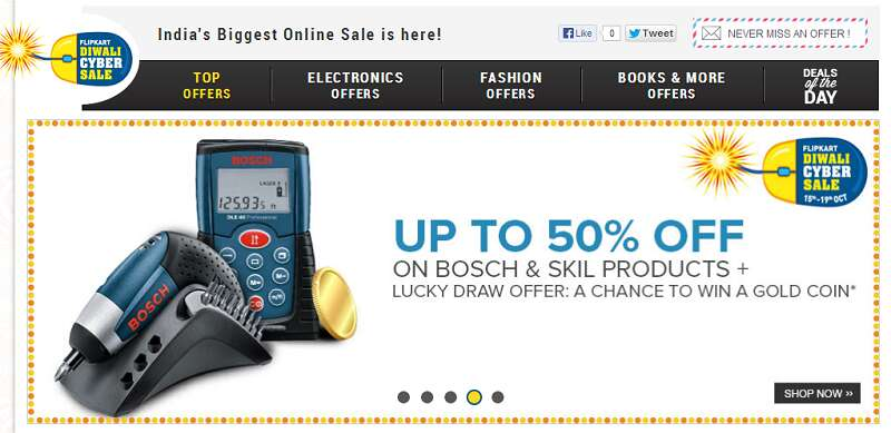 Flipkart discount coupons on electronics