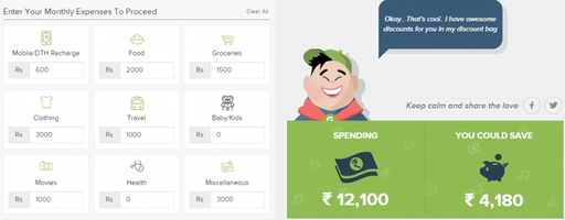 monthly expense money saver
