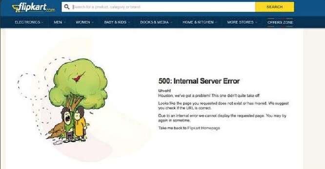 Flipkart server error on BigBillionDay