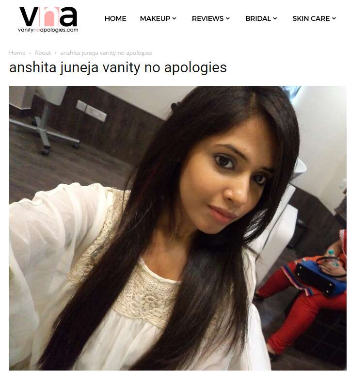 top 5 fashion bloggers in indi Vanity No Apologies