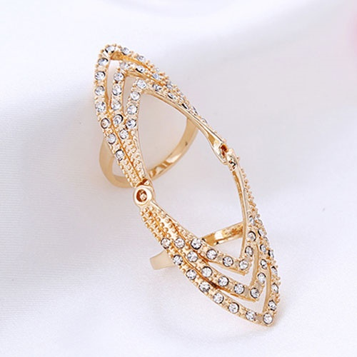 gold colour elegant ring