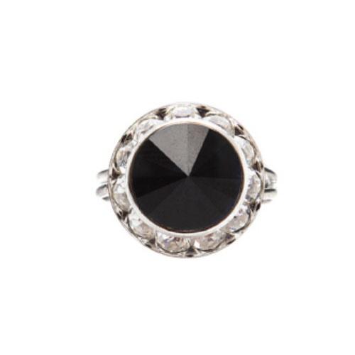 jet black ring
