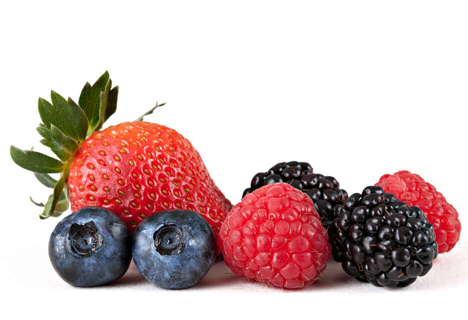 Blueberries and Strawberries best summer food
