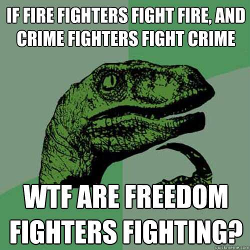 Similarities between employee and freedom fighter