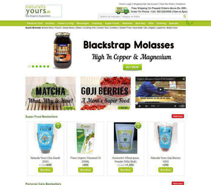 Naturally Yours Online Food Shopping India