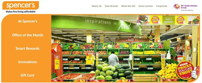 It operates in two formats - convenience store and hypermarket, in more than 35 cities across India. There are more than outlets selling thousands of products from multitude categories, thus offering the buyers an expansive array of merchandise to choose from. You can shop these online at spencers 5/5(1).