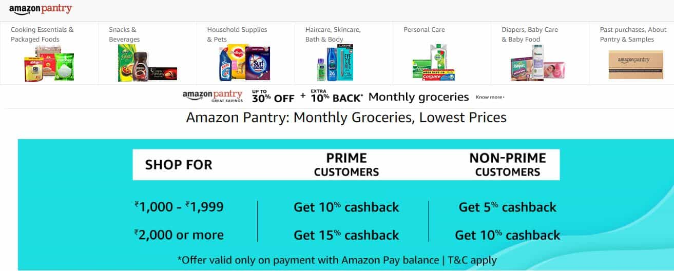 c5a3a6c0a You can now shop online for your monthly groceries with Amazon Pantry. Shop  from a wide range of items cooking essentials, beverages, household  supplies, ...