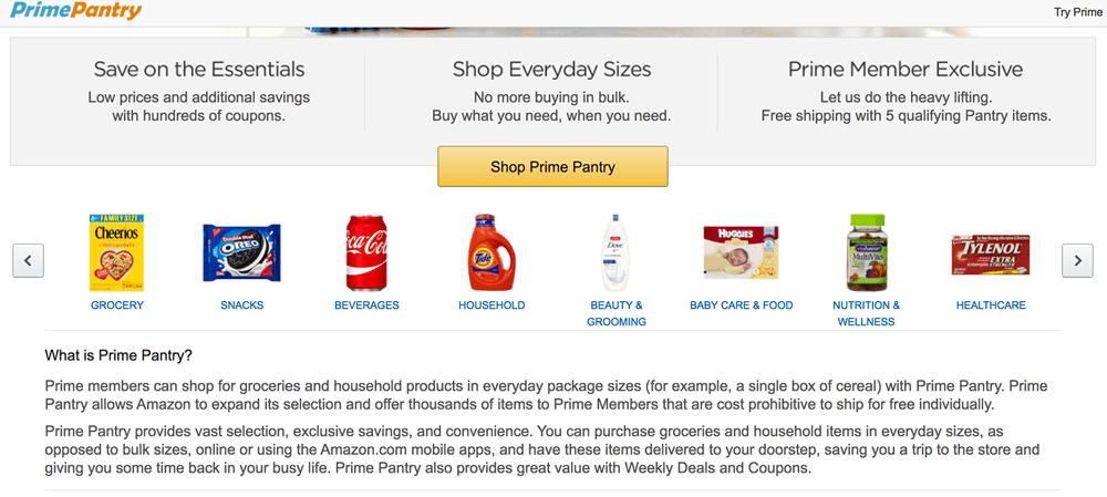 Amazon grocery shopping online