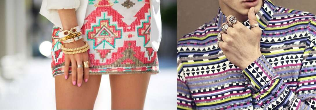 aztec prints party prints