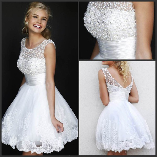 white new year party dress