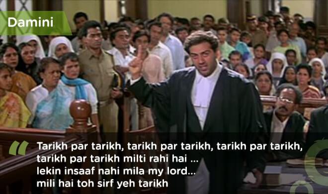 famous bollywood dialogues damini