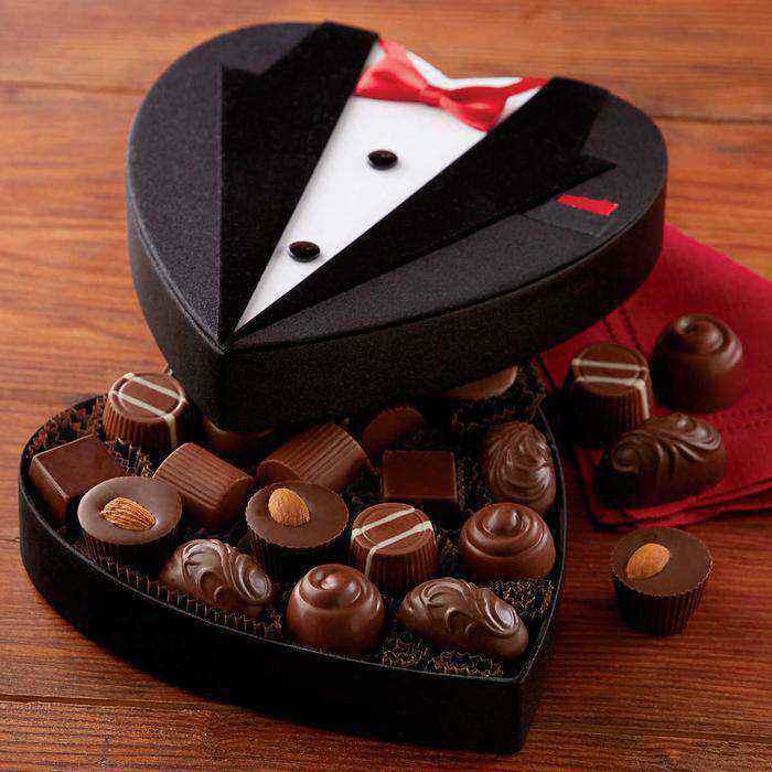 harry david tuxedo box of chocolates