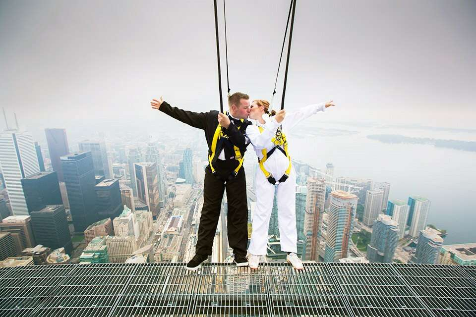 CN Tower EdgeWalk most insane photos