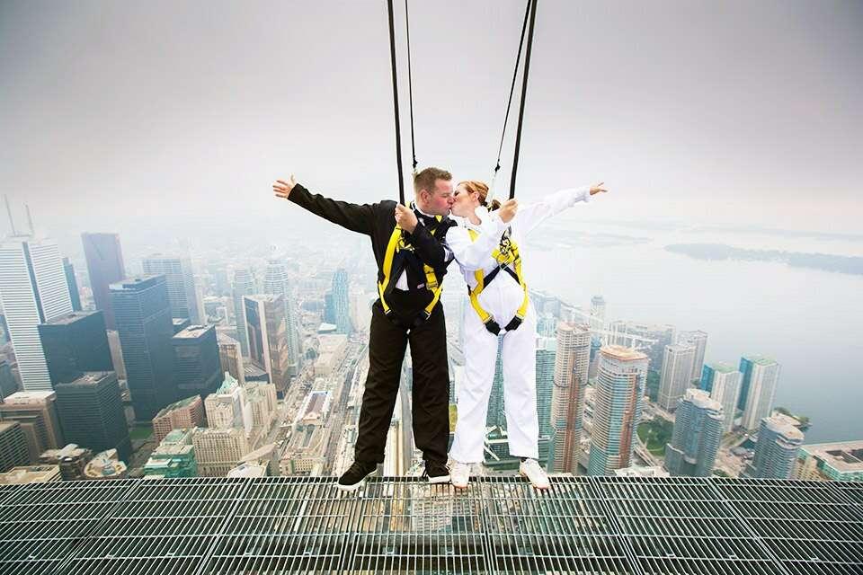 CN Tower EdgeWalk most insane photos