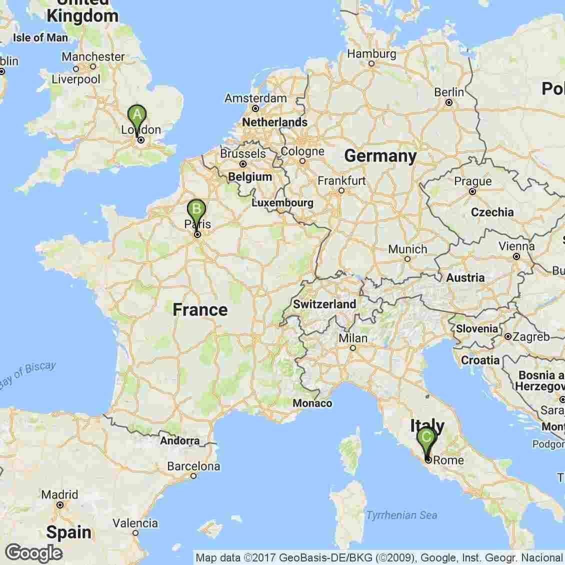 3 week itinerary London Paris Italy
