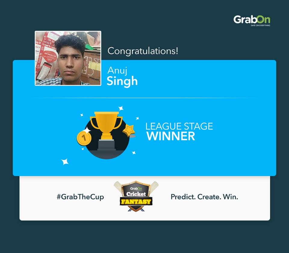 Anuj Singh - Winner Fantasy Cricket