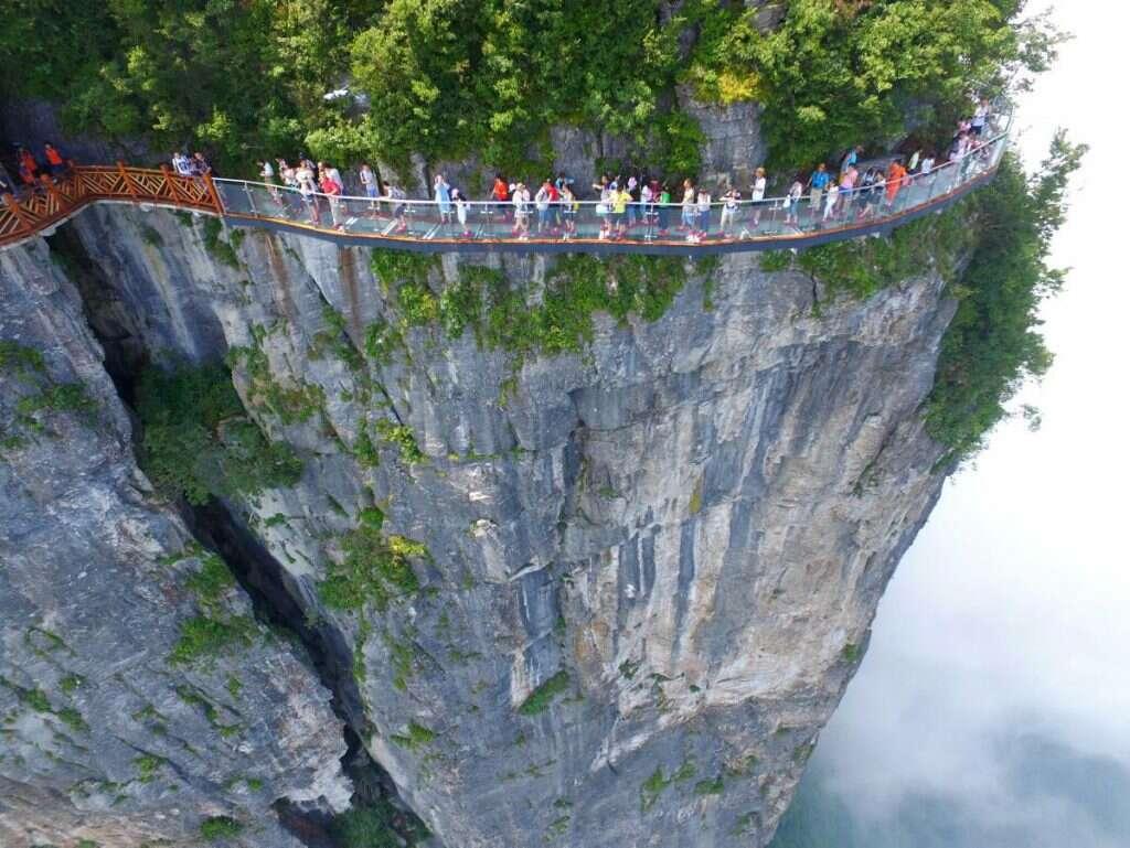 Coiling Dragon Cliff skywalk Zhangjiajie most insane photos