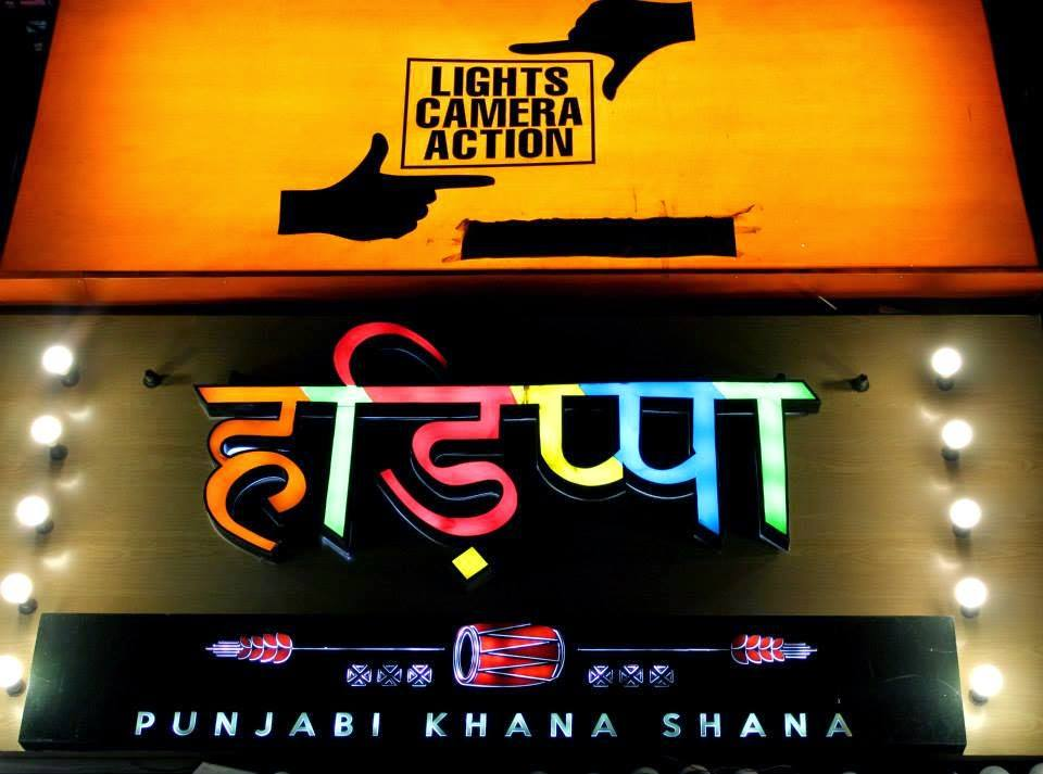 Lights Camera Action theme restaurants delhi