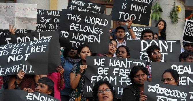 New Delhi Mass Protests for Violence Against Women