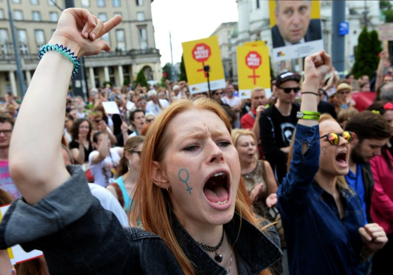 Protests against abortion ban in Poland
