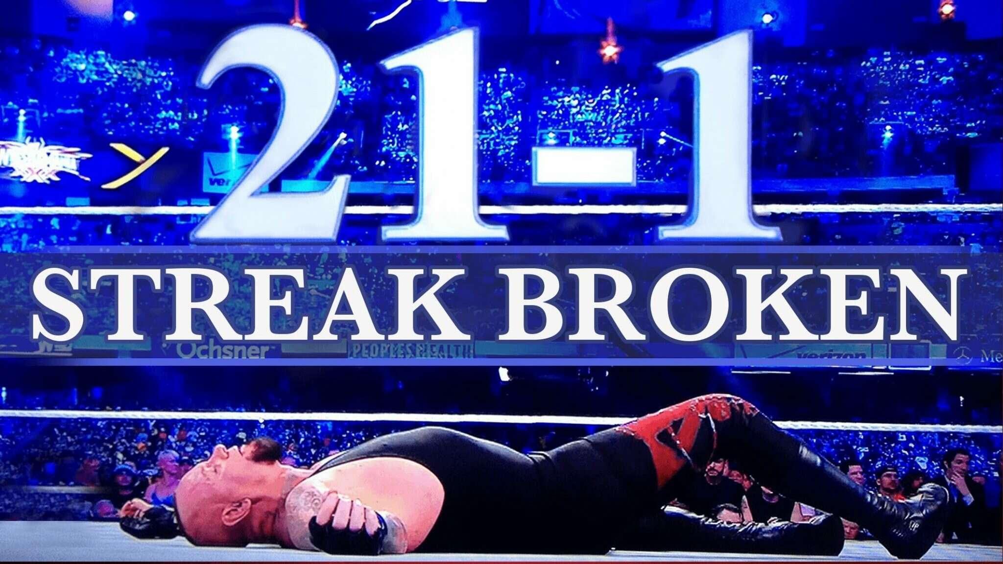 Streak Undertaker wrestlemania 33