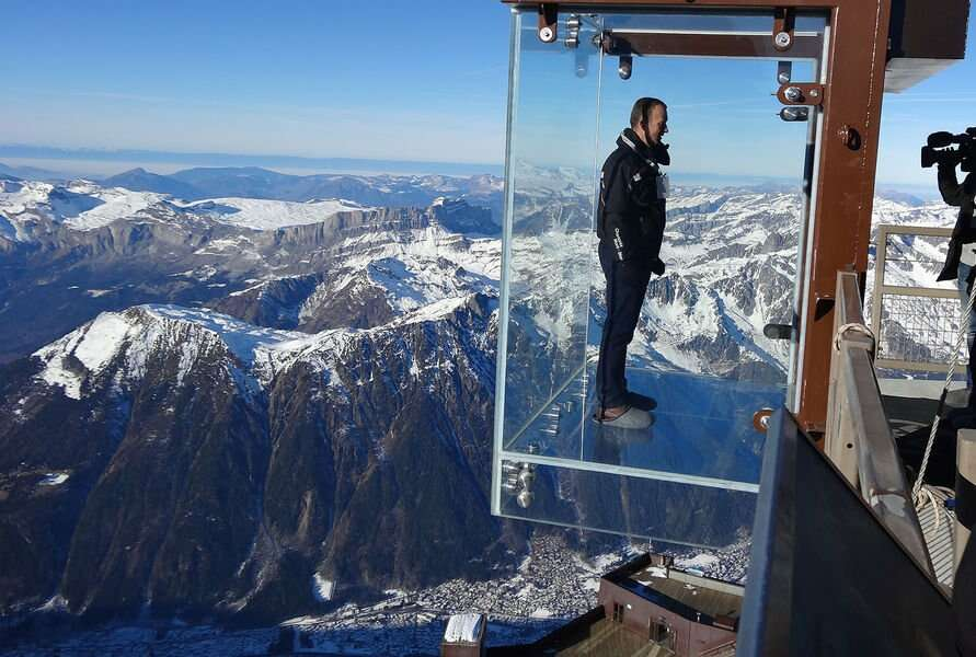 aiguille du midi skywalk most insane photos