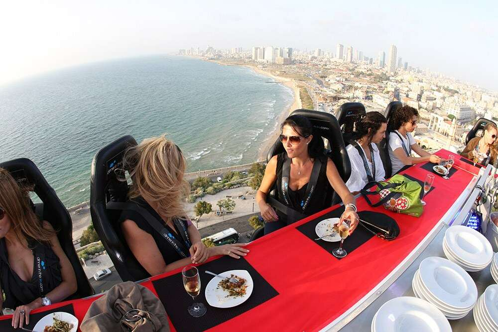 dinner in the sky paris most insane photos