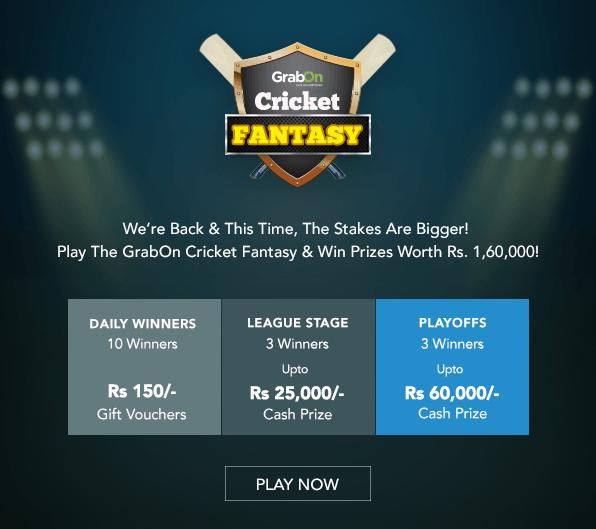 grabon cricket fantasy prizes