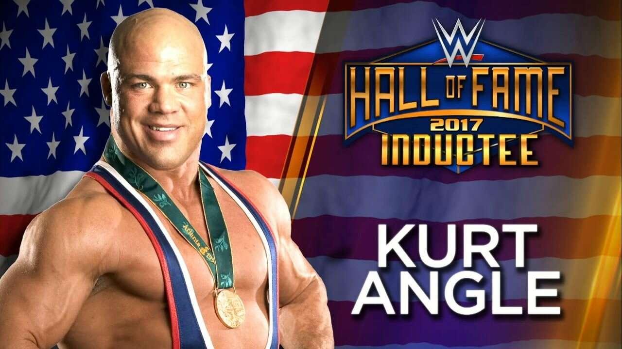 kurt angle hall of fame wrestlemania 33