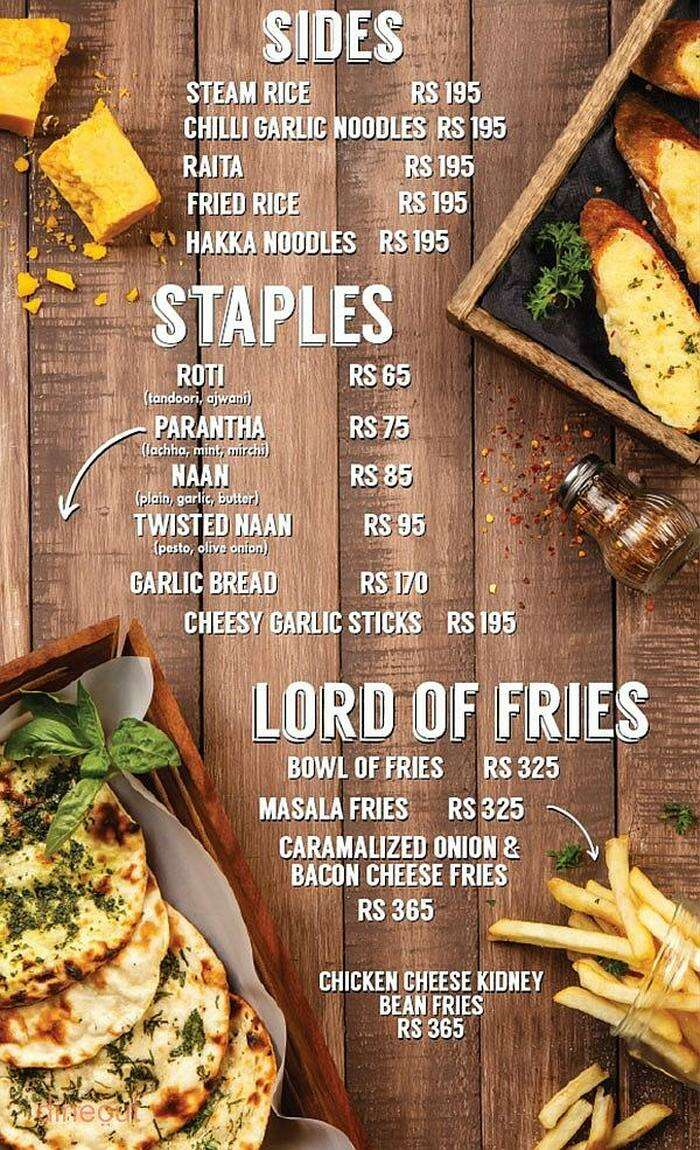 lord of the drinks menu theme restaurants delhi