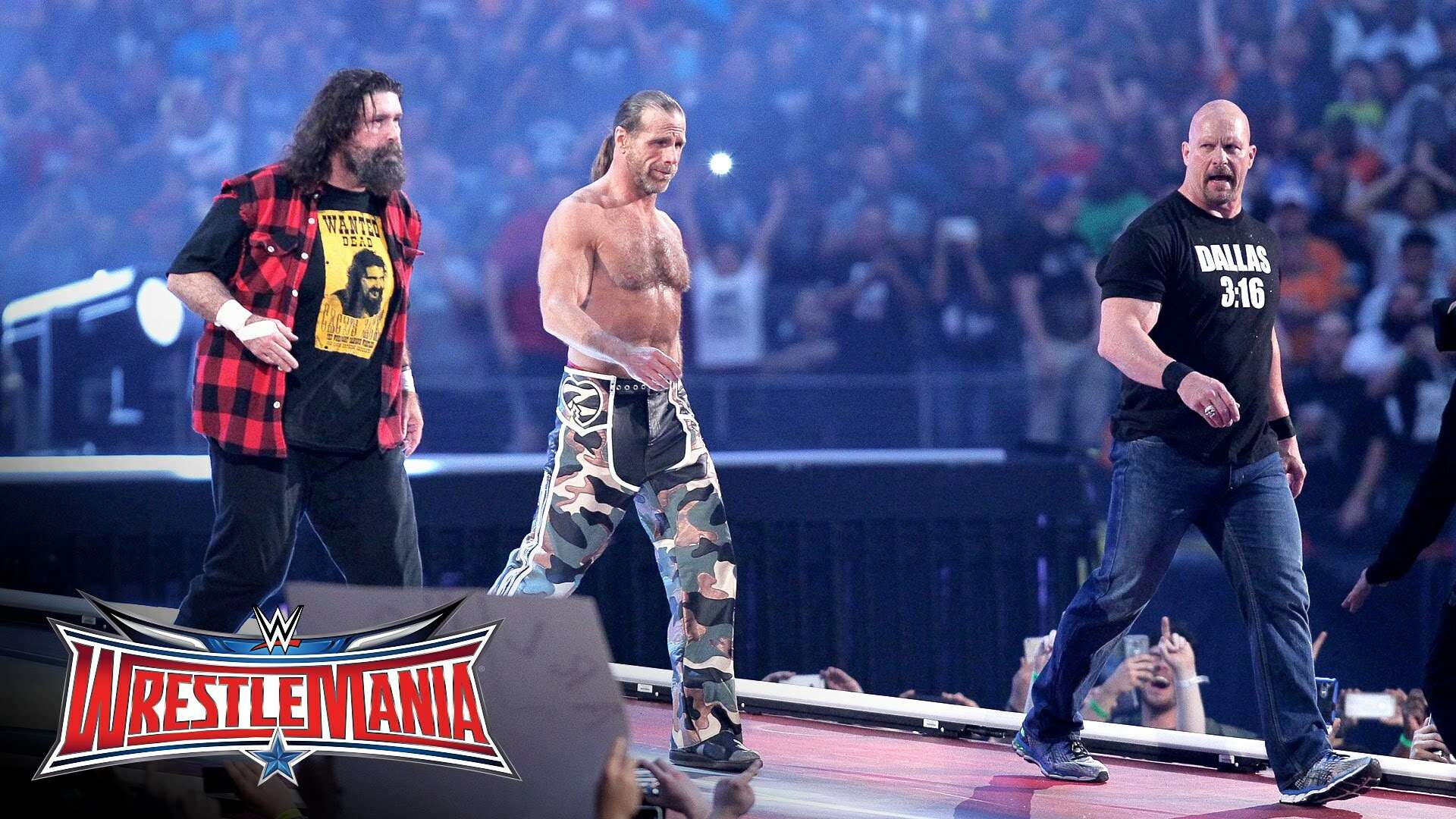 shawn michaels stone cold mick foley wrestlemania 32