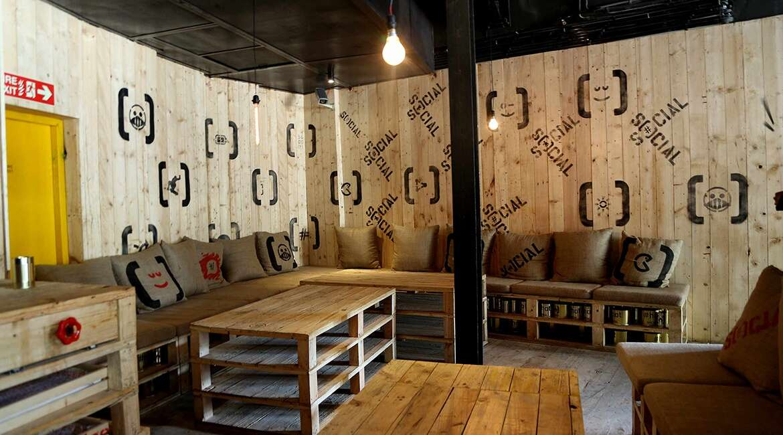 social cafe offline theme restaurants delhi