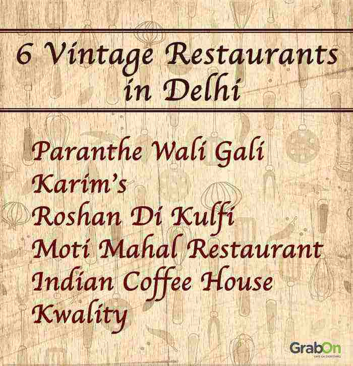6 vintage restaurants in delhi list
