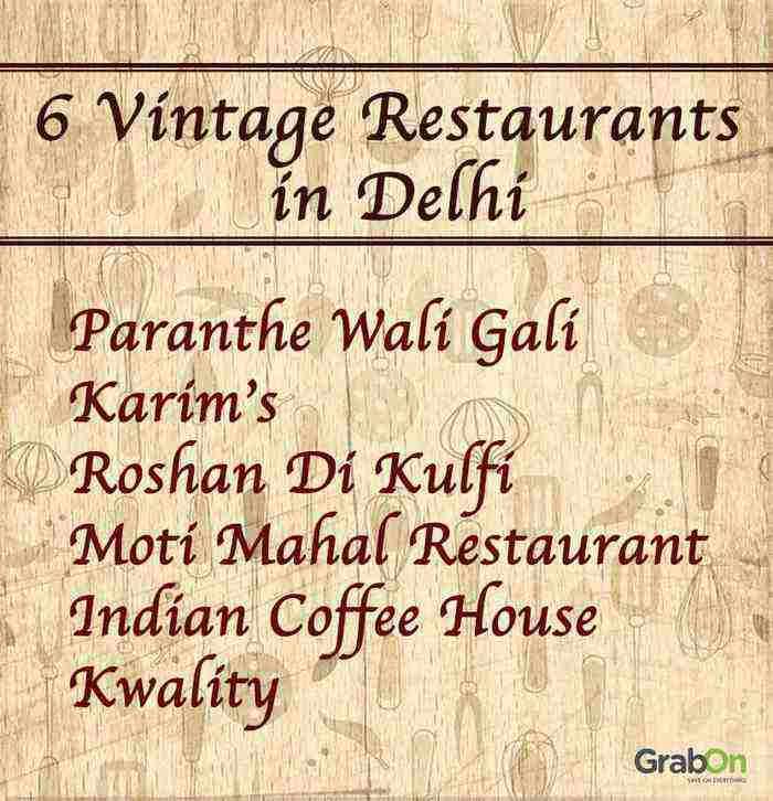 6 vintage restaurants in delhi list