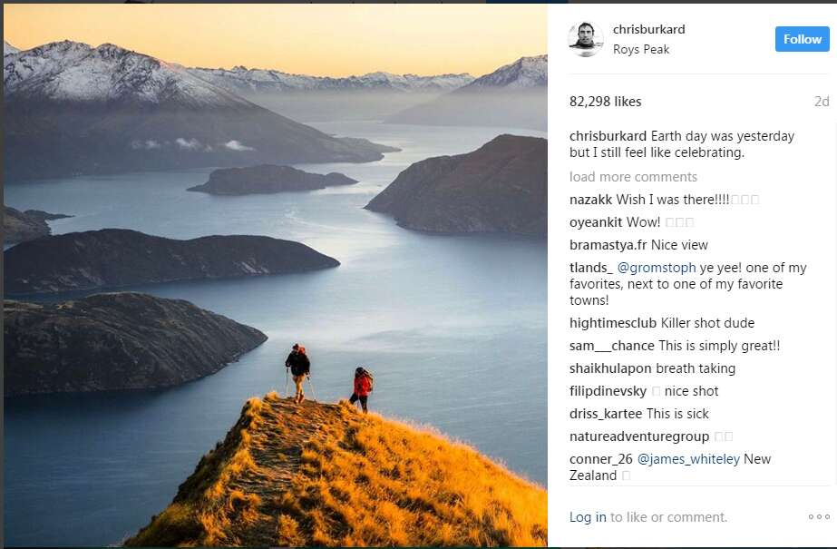 Instagram travel accounts Chris Burkard