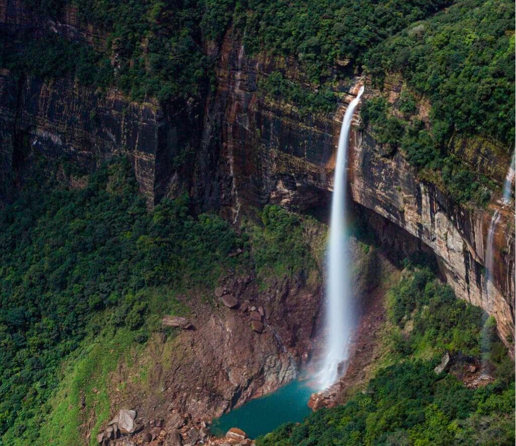 Nohkalikai Falls Cherrapunj i10 breathtaking waterfalls india