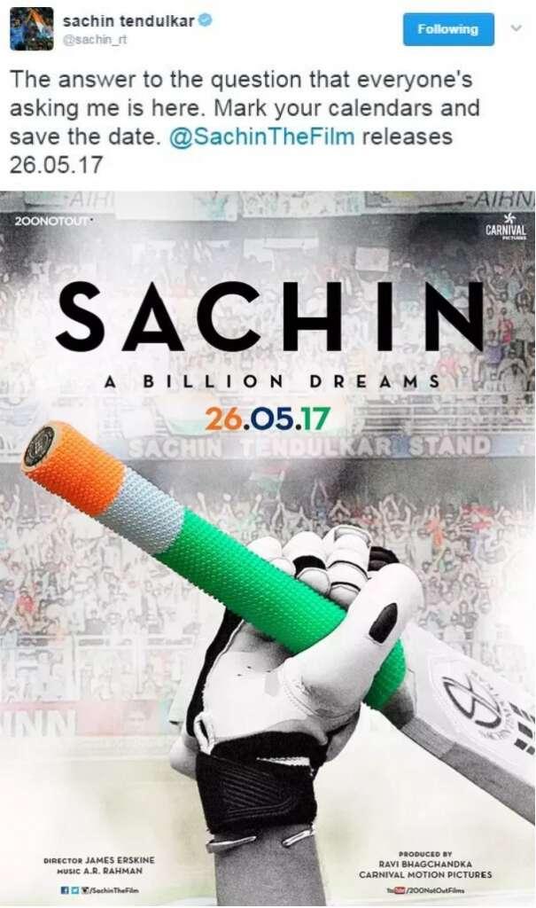 Sachin Tendulkar biopic movie 26 May release