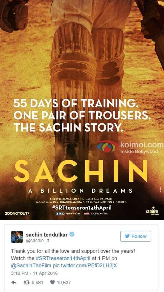 Sachin Tendulkar biopic movie poster
