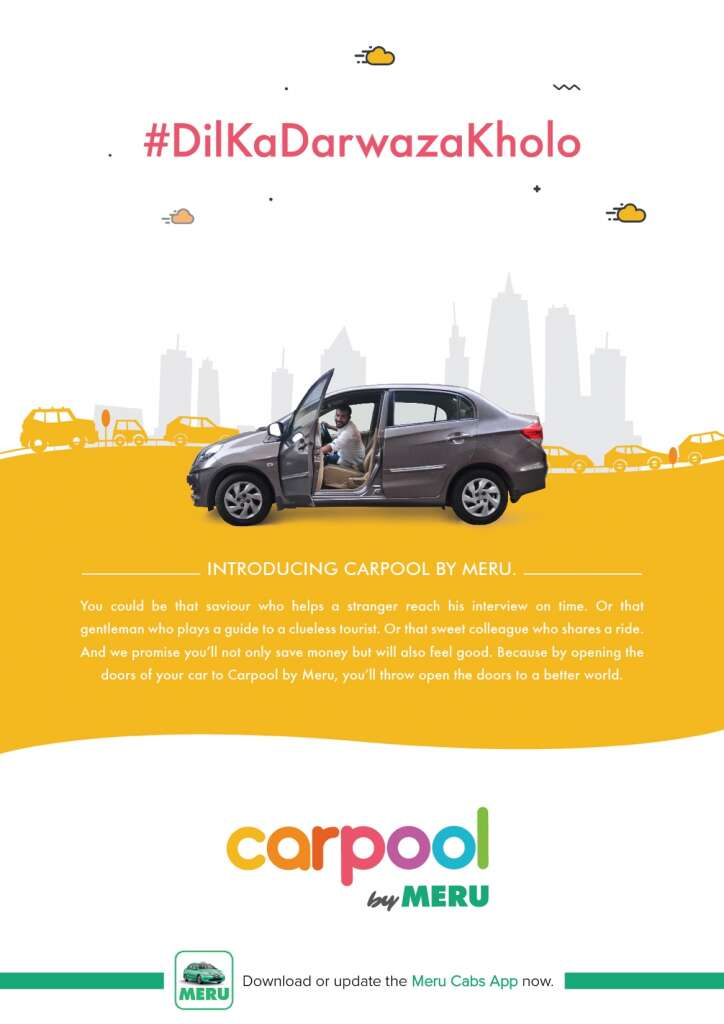 carpool apps in India meru
