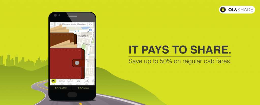 carpool apps in India olashare