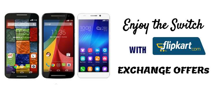 flipkart mobile exchange offers online in India discount