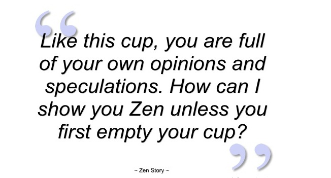 empty a cup self improvement