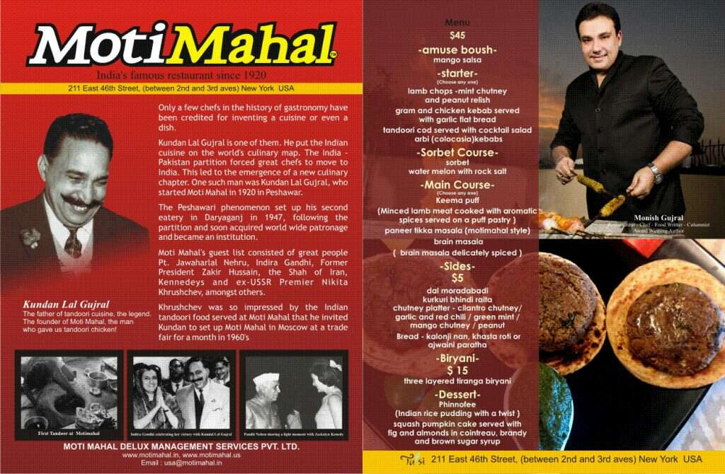 moti mahal menu 6 vintage restaurants in delhi