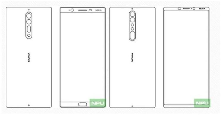 nokia 8 and Nokia 9 design sketch