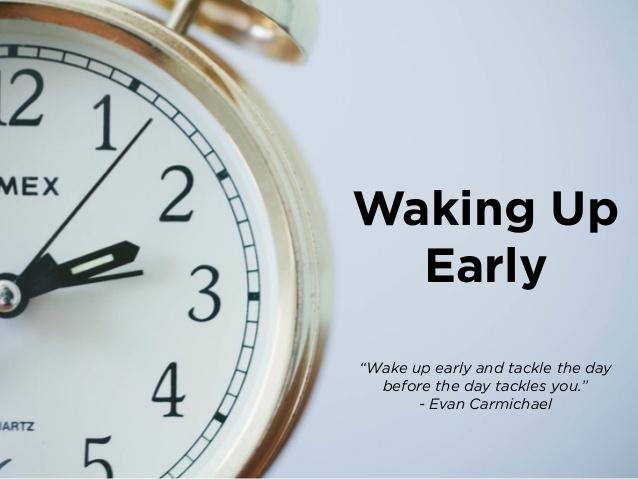 waking up early self improvement