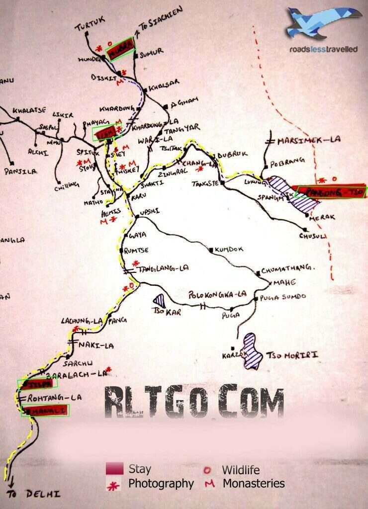 women only Leh Ladakh trip delhi itinerary