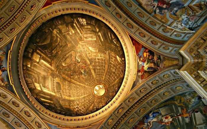 10 offbeat places in rome dome illusion st ignatius