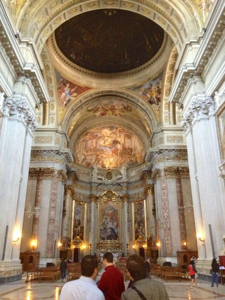10 offbeat places in rome dome illusion st ignatius forced perspective
