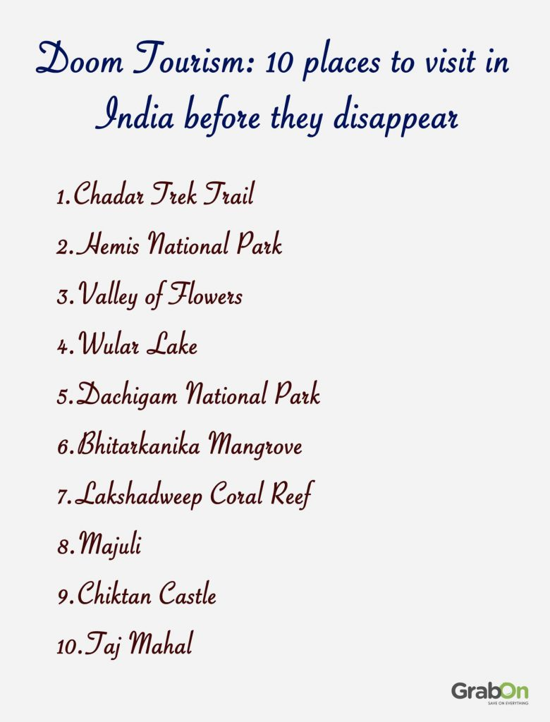 10 places to visit in india before they disappear list