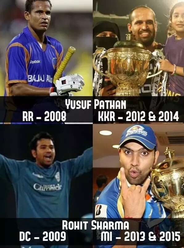 ipl interesting facts yusuf rohit
